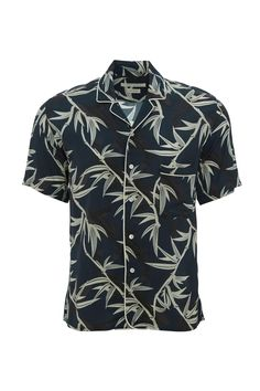 The Marc Jacobs Shadow Leaf Short Sleeve Shirt is a Spring style that you can wear through to Summer. An updated twist on a classic cotton shirt for men. With casual short sleeves, the shirt is elevated with an exclusive leaf print with piping detail. A button down front and peak collar add a sense of refinement. 100% Viscose