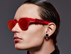 red on red 3d printed personalized sunglasses