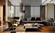 Luxurious interior design created by the various materials and colors used in the Oko Tower apartment in Moscow Architects:Tolko Interiors Location:Moscow, Russia Year: 2016 Photo courtesy:Tolko Interiors Thank you for reading this article!