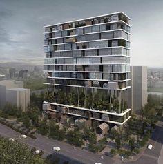 Por aqui, temos algo muito parecido com o Edifício 360º, do Isay Weinfeld!