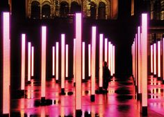 'Volume', Installation by United Visual Artists and One Point Six - Victoria and Albert Museum