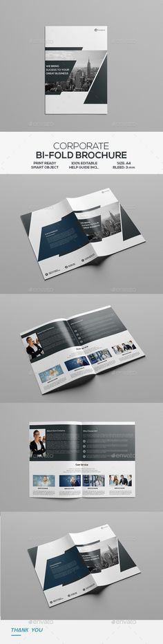 Buy Corporate Bifold Brochure by victormohin on GraphicRiver. Corporate Bifold Brochure Template: Fully editable, customizable and print ready. Well organized layers, very easy to. Luxury Brochure, Corporate Brochure Design, Corporate Presentation, Brochure Layout, Business Brochure, Brochure Template, Booklet Design, Flyer Design Templates, Stationery Printing