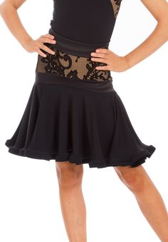 DSI Halie Juvenile Latin Dance Skirt 3145J | Dancesport Fashion @ DanceShopper.com