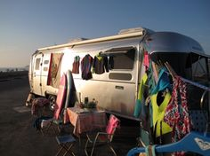 Trippin' in the silver-clad #Airstream to Surfside Reef in #Cardiff for the #LisaAndersenChampCamp