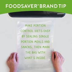 Meal prep, portion control, keeping food fresh – whatever you're going for, using FoodSaver® products will be a lifesaver for you in the kitchen! Portion Control Diet, Food Saver Vacuum Sealer, Snack Recipes, Snacks, Frozen Fruit, Everyday Food, Life Savers, Freezer Meals, Meal Planning