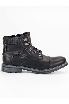 Pánske topánky na zimu čierne casual AMERICAN CLUB 709153B Mens Boots Fashion, Timberland, Casual Shoes, Hiking Boots, Men's Shoes, High Top Sneakers, Footwear, American, Male Boots