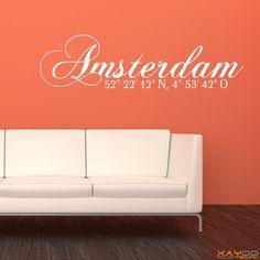 "Wandtattoo ""Stadtname Amsterdam"" - ab 14,95 € | Xaydo Folientechnik"