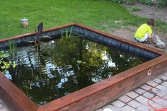 DIY 1,100 gallon koi pond. Looks great, and not that hard. deck lights for nightscaping