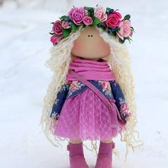 Заказ,  эта прелесть улетела а в Италию)  #куклыольгипономаревой #куклыручнойработы #littledolls #flor #pink #