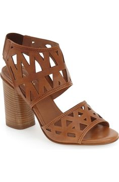 Striking geometric cutouts elevate these svelte block-heel sandals. They ll  pair perfectly 5acfc78aa1cc