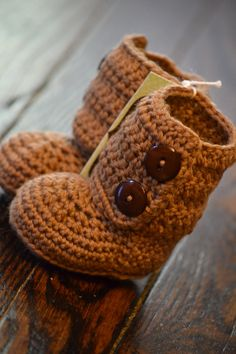 Crocheted Ugg Style Boots--Baby Shoes will never cease to  be adorable.
