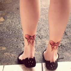 Ankle bow tattoos I have always wanted a tattoo...I kind of like this...