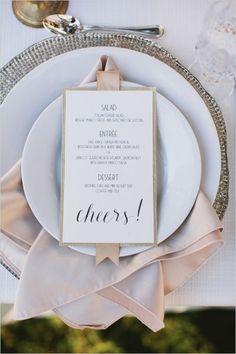 Drukowane ozdobne menu weselne fot. etsy.com
