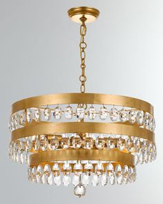 Perla Chandelier by Crystorama at Horchow. Entryway Lighting, Closet Lighting, Bathroom Lighting, Outdoor Chandelier, 5 Light Chandelier, Pendant Lights, Gold Ceiling Light, Ceiling Lights, Ceiling Canopy