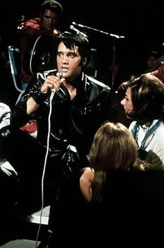 "Elvis Presley 1968 | ""In both sit-down shows, Presley sits between two of the women sat at the edge of the stage to sing the final song, ""Memories"". Although this move was Binders idea, Colonel Parker had originally been concerned that the audiences would contain older, more reserved adults and that this might give the impression that Presley had lost some of his appeal,"""