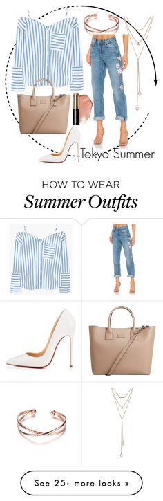 """Travel Series: Tokyo Summer outfit"" by outfitsdisney on Polyvore featuring Bobbi Brown Cosmetics, GRLFRND, MANGO, Christian Louboutin and SUGARFIX by BaubleBar"