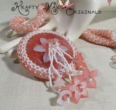 My Lady Linnea Handmade Beadwoven Crystal and Gemstone Necklace Set
