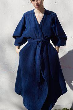 cosmic wonder sashiko sleeve dress via beautiful dreamers Look Fashion, Womens Fashion, Fashion Design, Style Bleu, Looks Style, My Style, Mode Inspiration, Look Chic, Mode Outfits