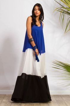 Crepe Georgette Color Block Maxi Gown #dress C-THROU.COM Official Website. Summer Resort 2017 Collection Maxi Gowns, Gown Dress, Dresses, Resort 2017, Ready To Wear, Website, Clothes For Women, Luxury, Summer
