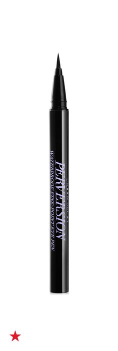 The key to creating the most amazing cat eye is the right eyeliner. Urban Decay Perversion eye pen has an ultra - fine tip that gives you total control over the shape of your line. This waterproof formula also dries quickly and won't smudge or feather throughout the day. Click to buy this must-have eyeliner at Macy's.