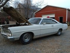 1967 Ford Galaxie 500 2 Door Barn Find Straight Body Complete Runs and Drives