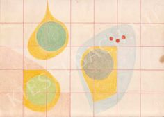 Playful Forms with Three Red Dots - Magda Zemplényi