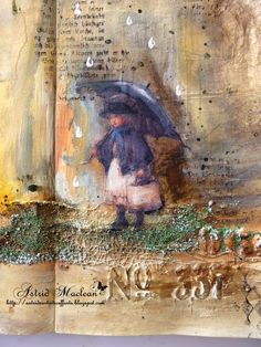 this artist ALWAYS blows me away... beautifully crafted!  from Astrid's Artistic Efforts: April Showers for Mixed Media Monthly