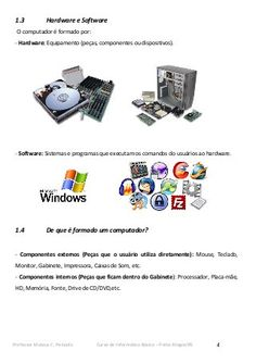 Apostila informática Microsoft Powerpoint, Microsoft Excel, Microsoft Windows, Hardware E Software, Internet E, O Words, Usb Flash Drive, 1, Gifs