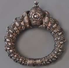 High quality Madras silver bracelet lt 19th c  x collection Vanderstraete (archives sold  )