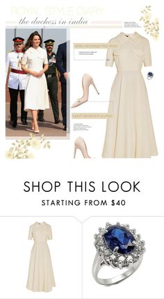 """""""The Duchess in India ~ Kate Middleton"""" by aj93 ❤ liked on Polyvore featuring Emilia Wickstead, Fantasy Jewelry Box and Rupert Sanderson"""