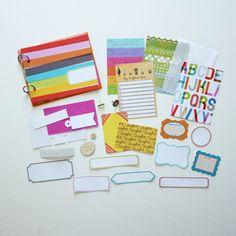 Color Stripes 4x5 Mini Album Kit by waveney on Etsy