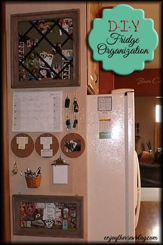 {enjoy the view}: Kitchen Organization - the big reveal! (part 6 of the fridge organization series) - organize/clean off your fridge & counters for less than $30