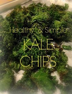 Kale Chips - One of the top 5 Most Popular Recipes on Love to be in the Kitchen! #kale #healthy #healthysnacks