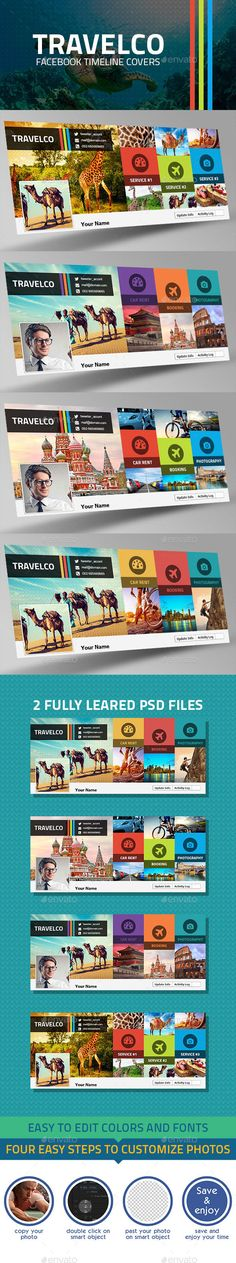 Travelco Facebook Timelines Covers Template PSD #design #social Download: http://graphicriver.net/item/travelco-facebook-timelines-covers/12047906?ref=ksioks