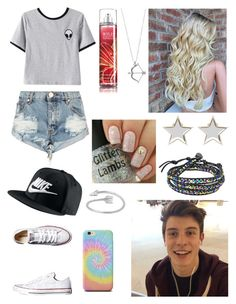 """""""Hanging out with Shawn!"""" by one-direction-tumblr-girl on Polyvore featuring Chicnova Fashion, One Teaspoon, Converse, NIKE, Givenchy and AeraVida"""