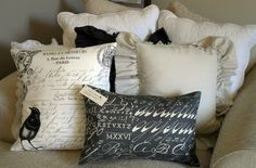 French & Sparrow pillows