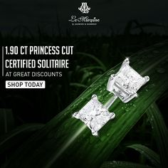 Suitable for the classiest of occasions, this 1.90 CT princess cut solitaire takes simple elegance and timeless style to an entirely new level. Grab these ravishing jewel pieces at amazing discounted rates only from #LeMarquise! To shop, call - 011- 45072151  #DiamondJewellery #Jewellery #Diamond #Brilliant #Fashion #Beautiful #Earring #Exquisite #Sparkle #Crafted #HandmadeJewellery #IndianFashionJewels #BrideGoals #NewDelhi #PunjabiBagh #Glam #MustHave #Discount