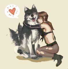 Quiet hugging Ddog