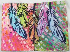 Julie Fei-Fan Balzer art journal page