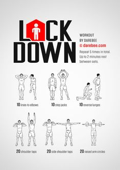 Lockdown is the Darebee workout you do when you're on lockdown which makes it extra special. Neila Rey Workout, Kickboxing Workout, Gym Workout Tips, Workout Plans, Workout Music, Cardio Yoga, Bed Workout, Exercise Plans, Workout Women