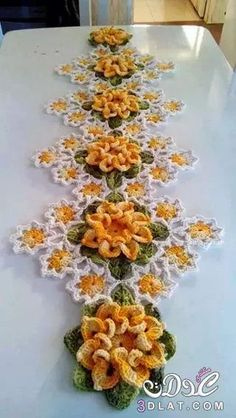 Crochet table center: 50 models, photos and graphics – New decoration styles – Knitting – Crochet Crochet Home, Love Crochet, Crochet Motif, Irish Crochet, Beautiful Crochet, Crochet Crafts, Crochet Doilies, Crochet Projects, Knit Crochet