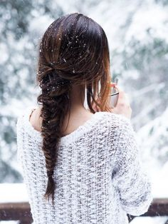 I love snow in people's hair. It's a whimsical obsession of mine.