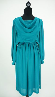 Vintage Teal Coco of California Dress Size M by CeeLostInTime