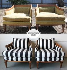 upcycled furniture before and after -