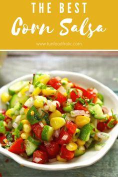 Salad Recipes Healthy Vegetarian, Vegetarian Salad Recipes, Spicy Recipes, Indian Food Recipes, Fresh Corn Recipes, Corn Salsa, Chutney Recipes, Indian Salads, Gluten Free