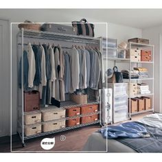 10 Stunning Open Closet Ideas For Advanced Home Open Wardrobe, Wardrobe Closet, Closet Space, Bedroom Closet Design, Home Bedroom, Closet Minimalista, Bedroom Themes, Bedroom Decor, Bedrooms