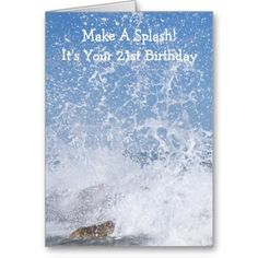 #Ocean #21st #Birthday Greeting #Card