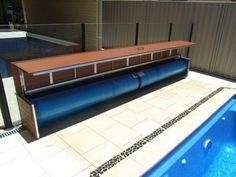 Pool Blanket Boxes Australia - Timber Look Aluminium