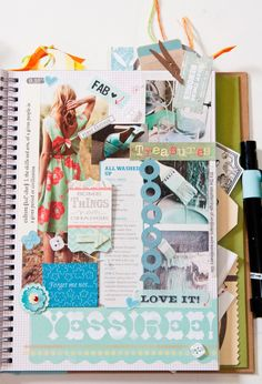 Clip words and pictures from magazines to capture your style and create a wish list page for your Anything Book. #anythingbook