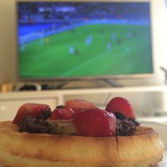 Waffle com futebol